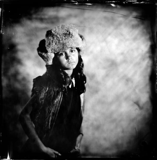 Portrait jeune fille collodion humide